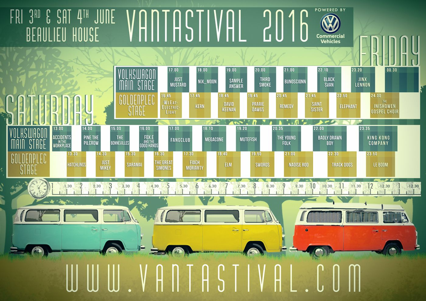 Vantastival 2016 Full Schedule